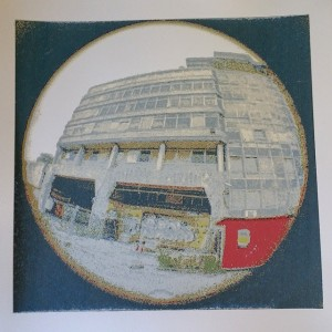 HMSO Building, Norwich. Screen Print with 11 colours printed