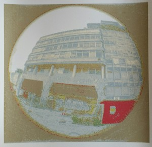 'HMSO Building, Norwich' with 9 layers printed