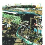'Stratford Olympic Park November 2009', monoprint