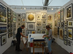ELP stand at the Affordable Art Fair